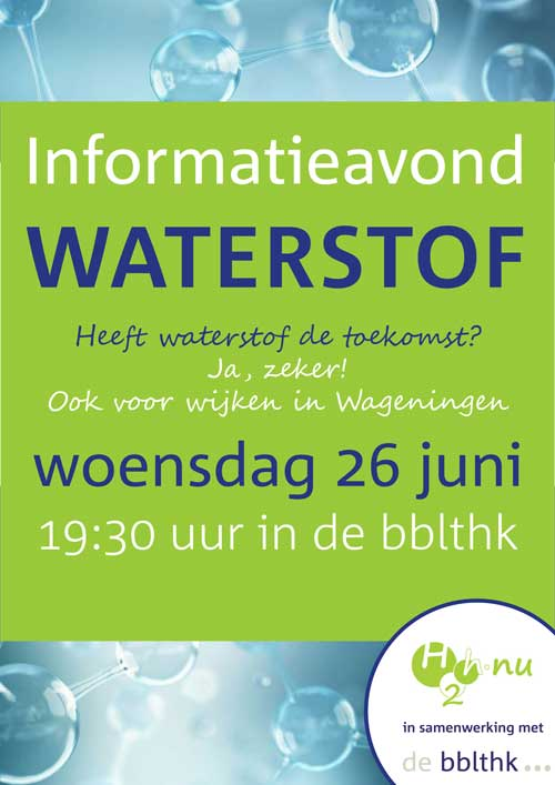 Informatieavond – 26 juni waterstof in de BBLTHK in Wageningen